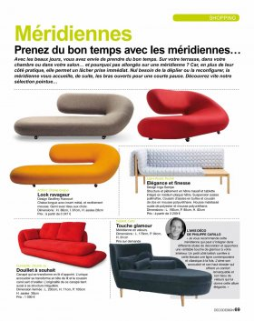 Article de Deco Design sur la sélection déco de mobilier design à Paris .