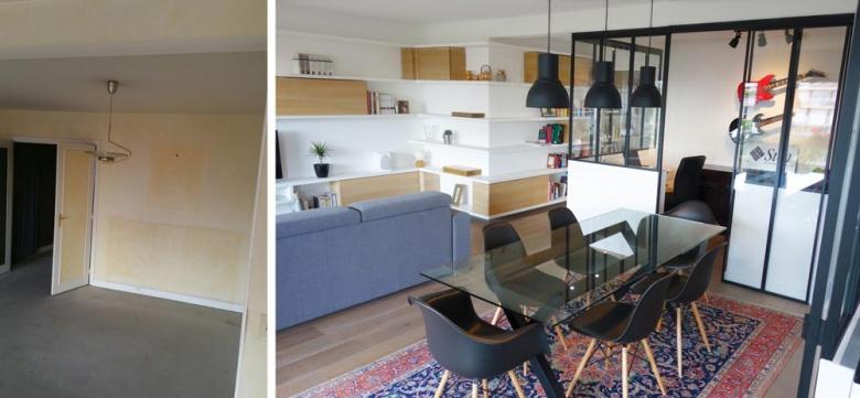 photos de r alisations d 39 un d corateur d 39 int rieur qui vous montre ses avant apr s paris. Black Bedroom Furniture Sets. Home Design Ideas