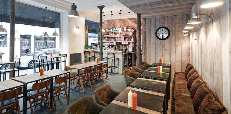 Aménagement dun restaurant à burgers par un architecte commercial en région ile de france