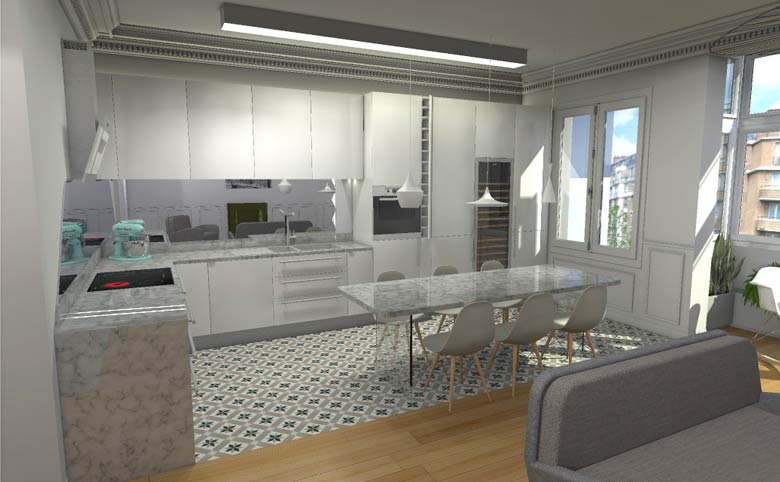 Architecte d int rieur paris travaux de r novation et for Conception cuisine