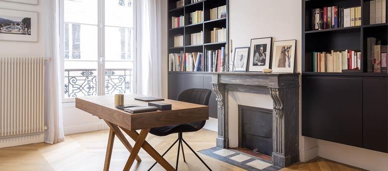 relooking et dcoration dintrieur dun bureau design dans un appartement ancien