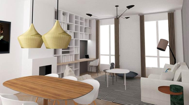 transformer un studio en appartement lumineux de 2 pi ces cr ateurs d 39 int rieur paris. Black Bedroom Furniture Sets. Home Design Ideas
