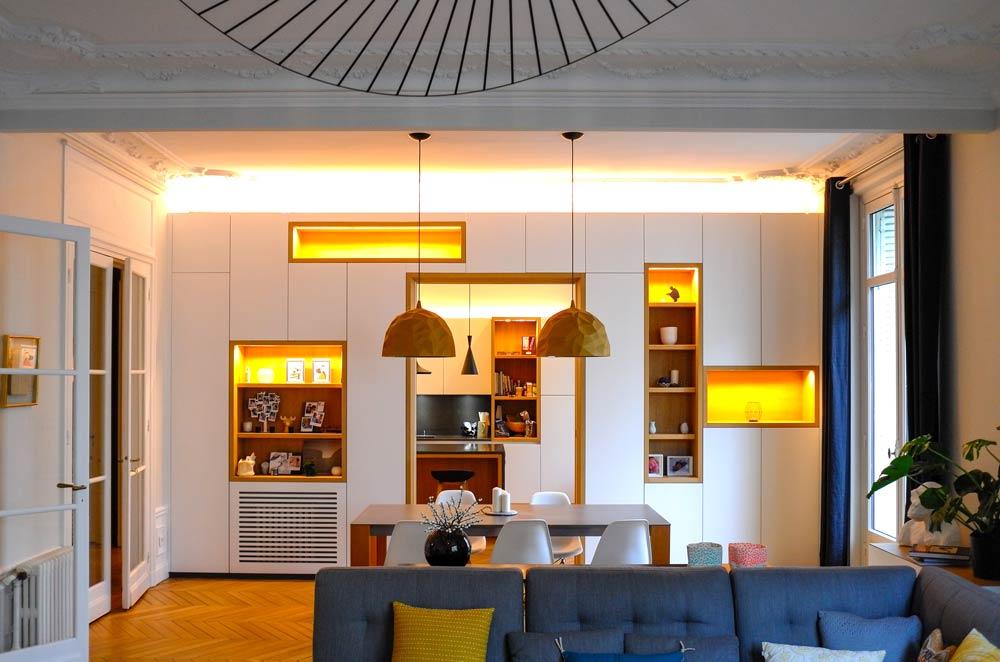 Moderniser un appartement haussmannien vétuste et le transformer en appartement famillal