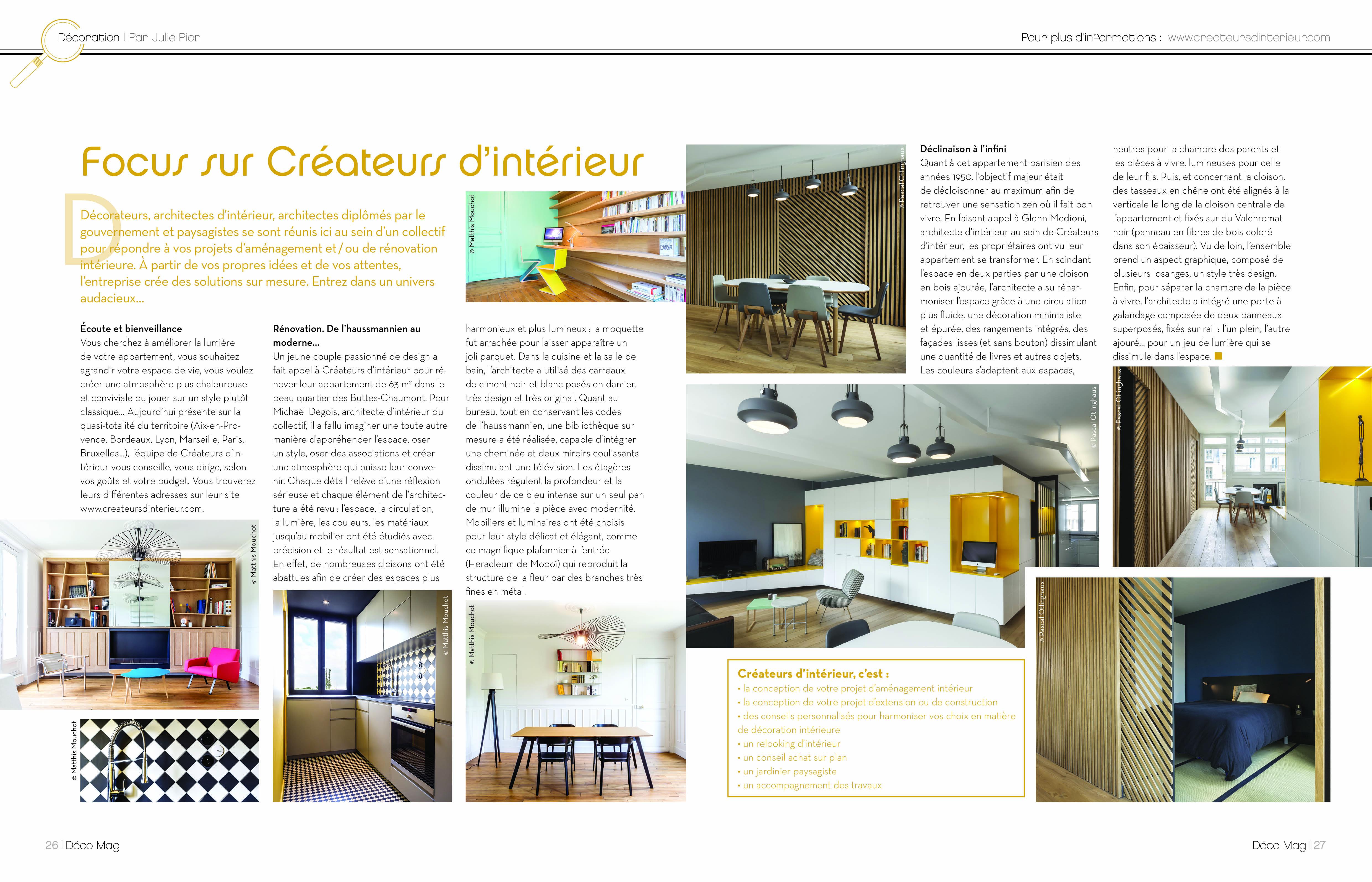 Presse paris for Article decoration interieur
