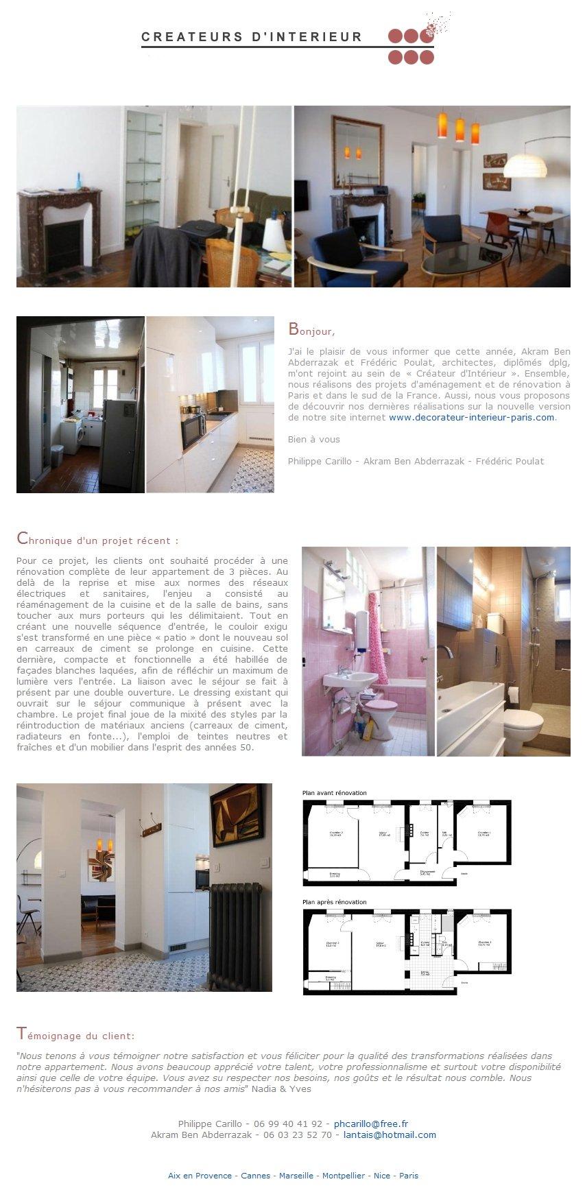 newsletter cr ateurs d 39 int rieur paris. Black Bedroom Furniture Sets. Home Design Ideas
