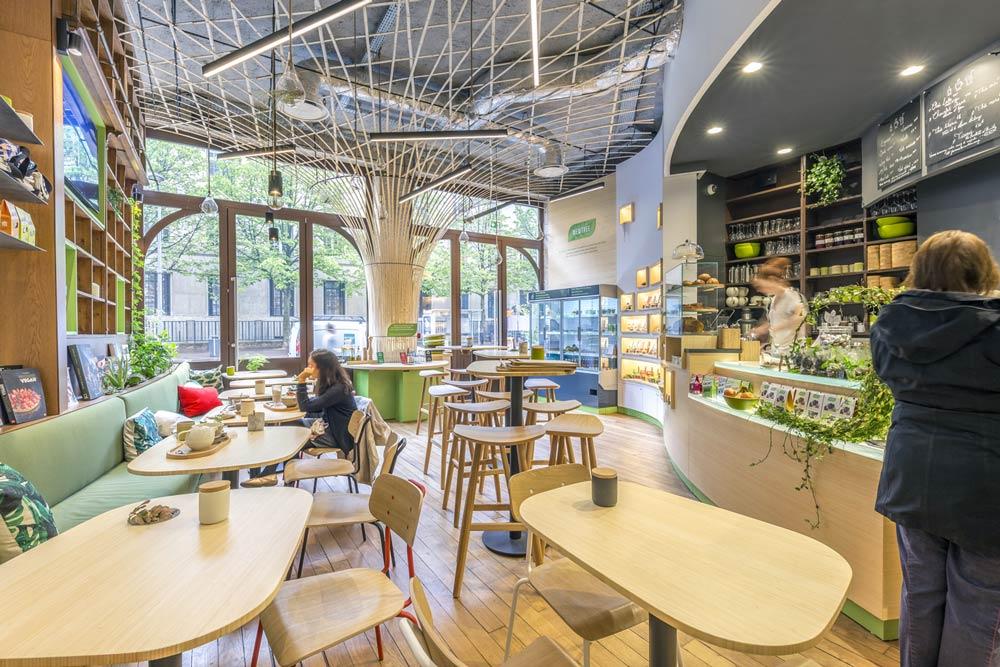 Aménagement du coffee shop Newtree à Lyon