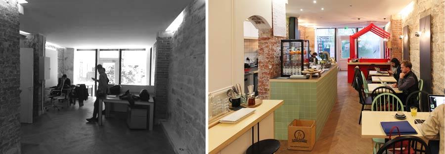 Architecture commerciale dans un café