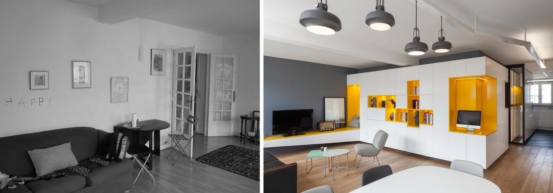 R novation d 39 une appartement 3 pi ces par un architecte d - Photo architecte d interieur ...