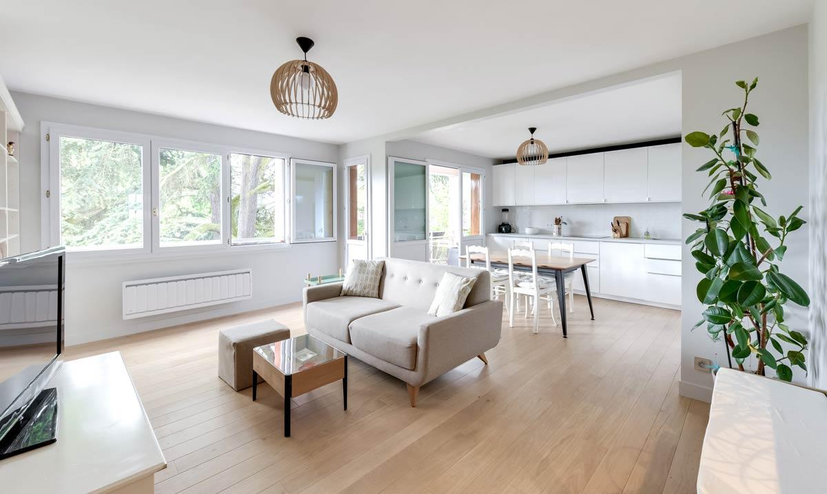 Aménagement d'une salle de séjour par un architecte d'intérieur