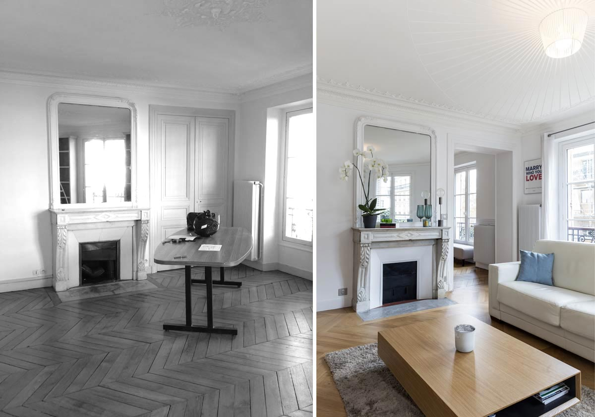 renovation appartement haussmannien avant apres
