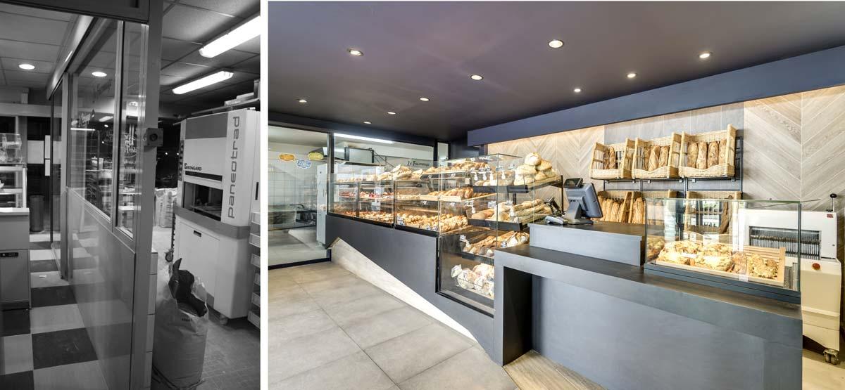 Décoration d'intérieur d'une boulangerie moderne