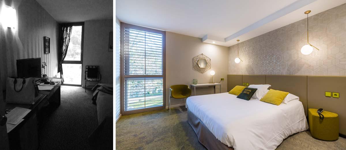 Rendre une chambre d'hôtel plus lumineuse par une rénovation orchestré par un architecte d'intérieur