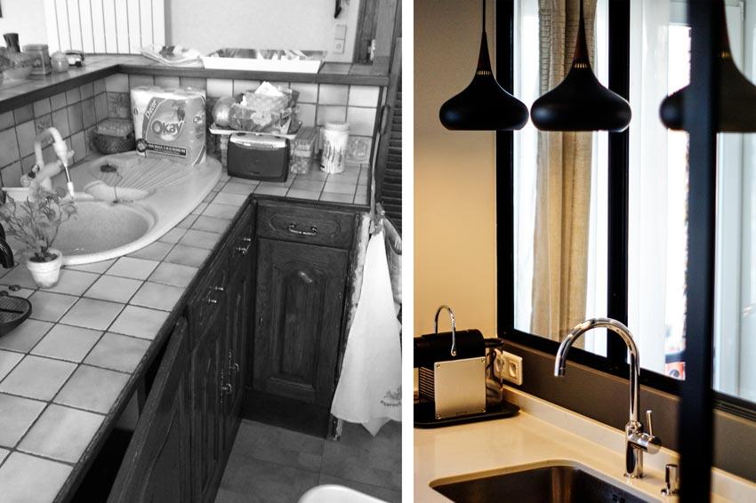 Rénovation de la cuisine d'un appartement 2 pièces par un architecte d'intérieur