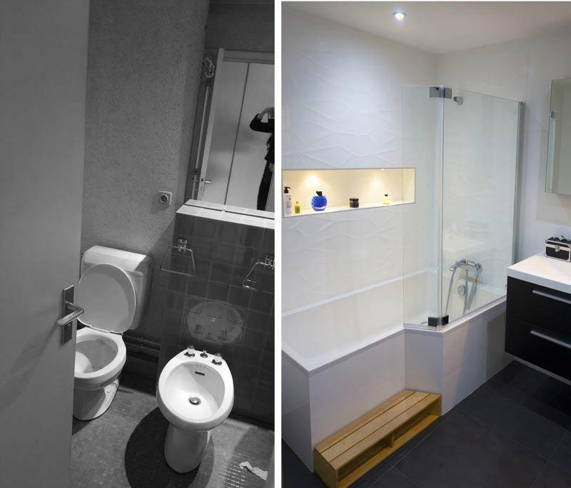 Avant - aprés : rénovation de la salle de bain