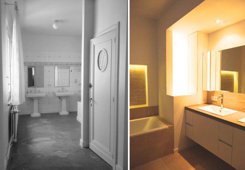 Rénovation d'une salle de bain parentale dans une villa