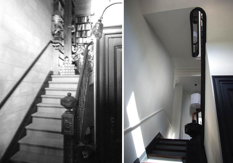 Rénovation de l'escalier dans une maison de ville