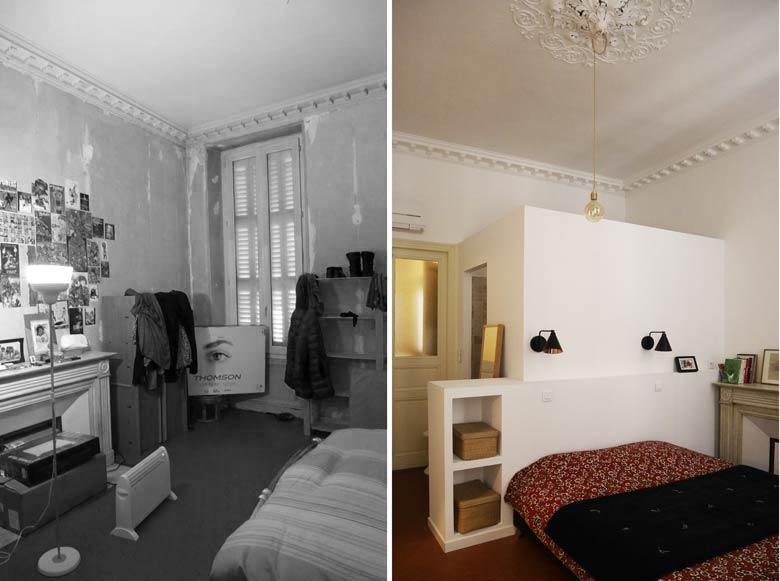 Rénovation d'une chambre par un architecte d'intérieur