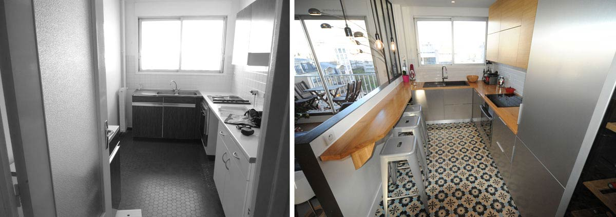 Avant apr s am magement appartement 3 pi ces 62m2 for Decoration interieur appartement 2 pieces