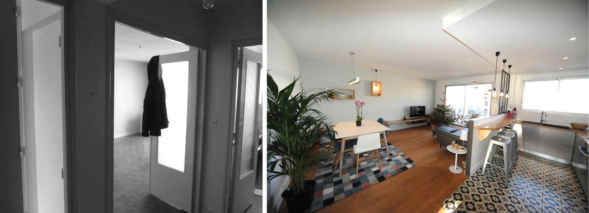 Rénovation du salon d'un appartement rregion