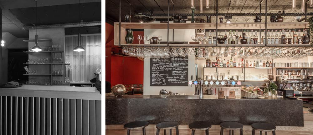 Aménagement d'un bar restaurant par un architecte d'intérieur