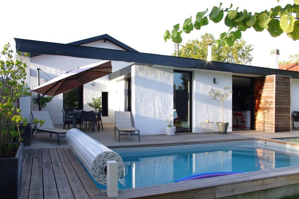 Aménagement d'une piscine par un architecte