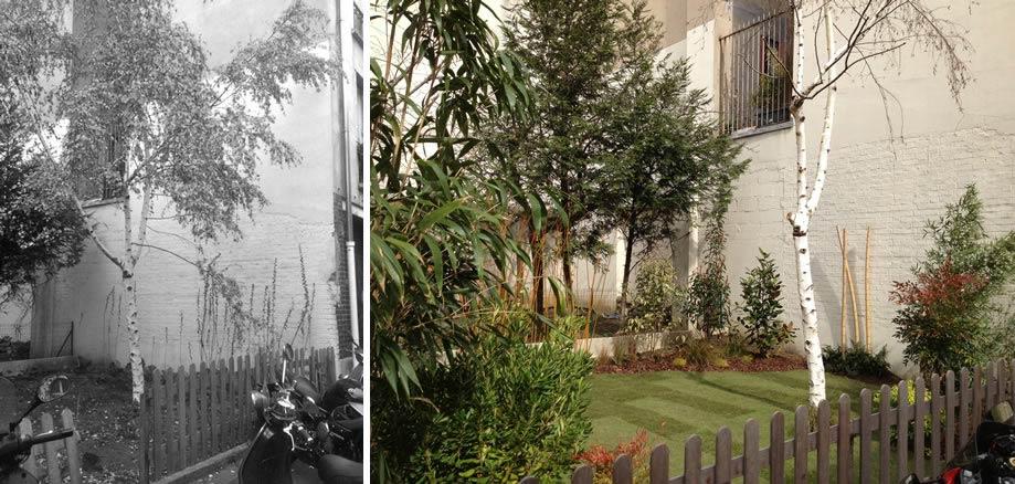 Am nagement d 39 un jardin partie commune paris for Jardinier bruxelles
