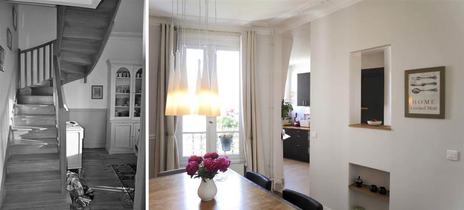 avant apr s d coration d 39 int rieur d 39 un appartement en duplex de 160m2. Black Bedroom Furniture Sets. Home Design Ideas