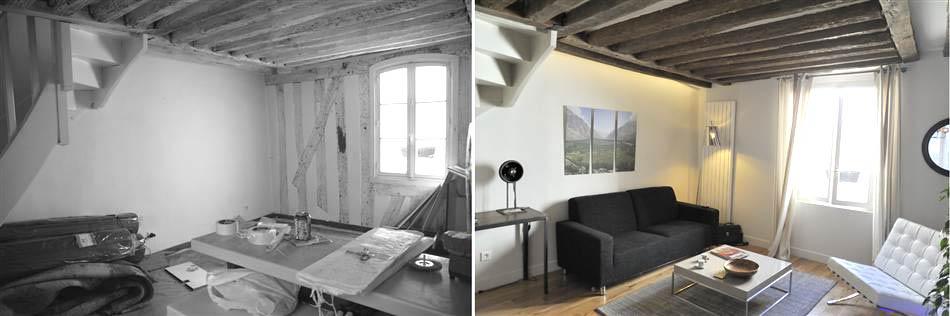 Architecture d'intérieur dans un duplex
