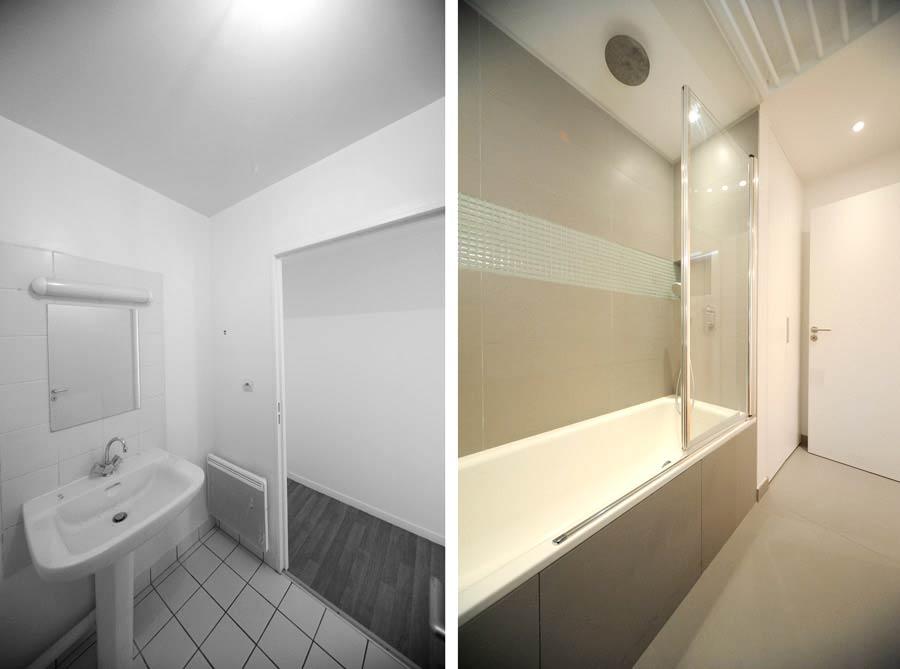 Architecture d'intérieur d'une salle de bain rville