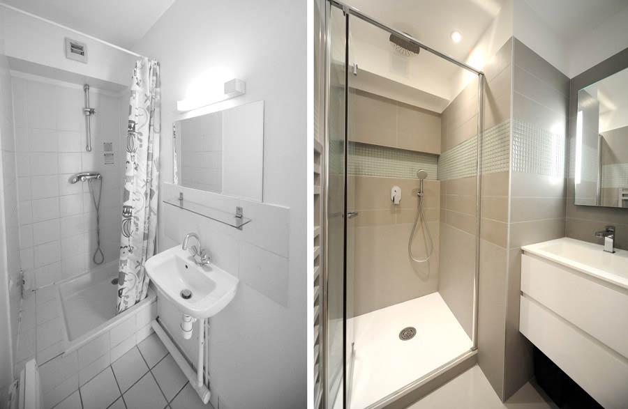 Rénovation d'une salle d'eau par un architecte d'intérieur