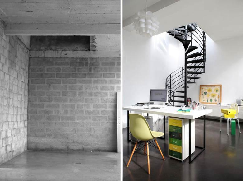 Architecture d'intérieur dans un loft rregion