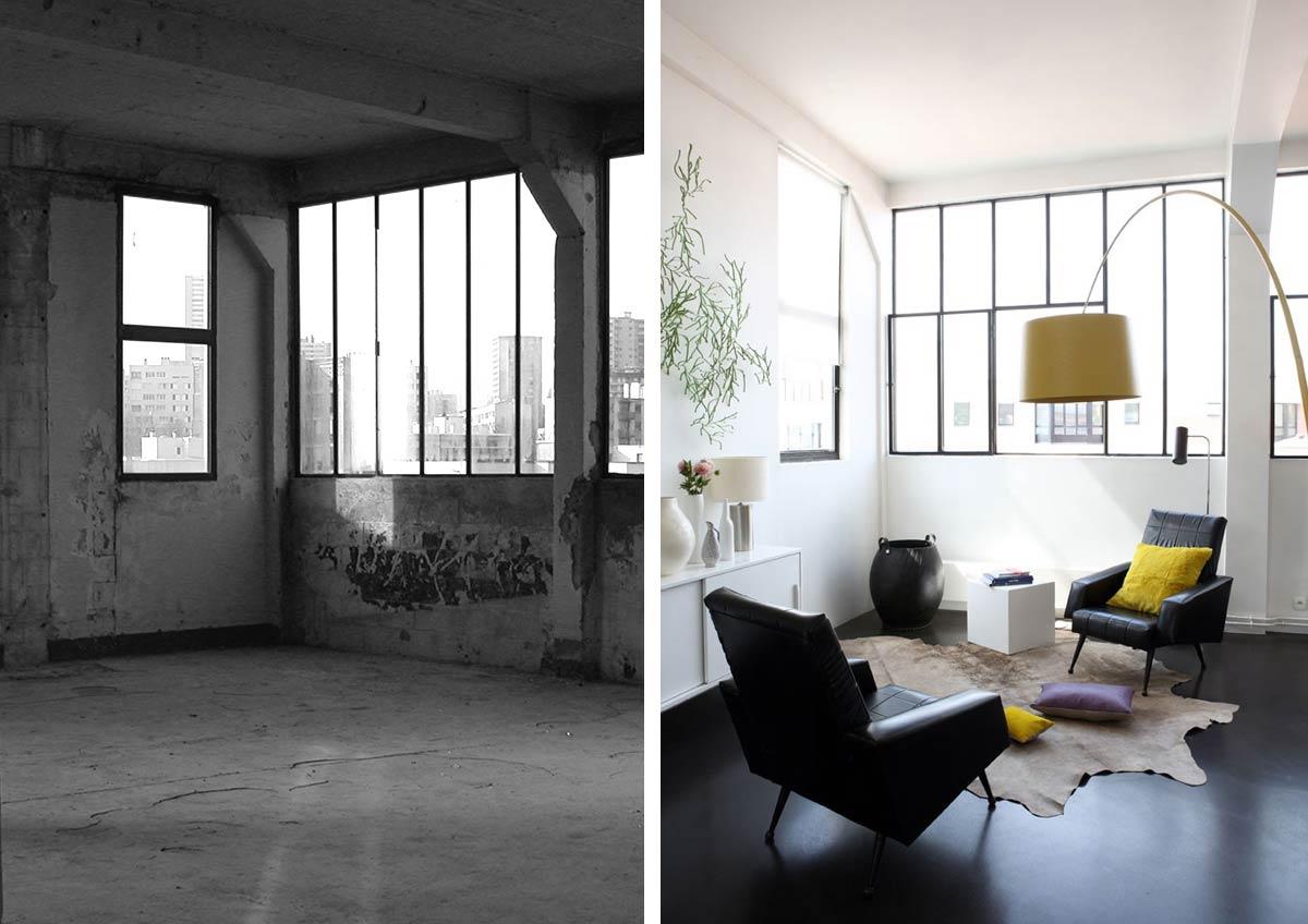 Transformation d'un loft en bureau rville