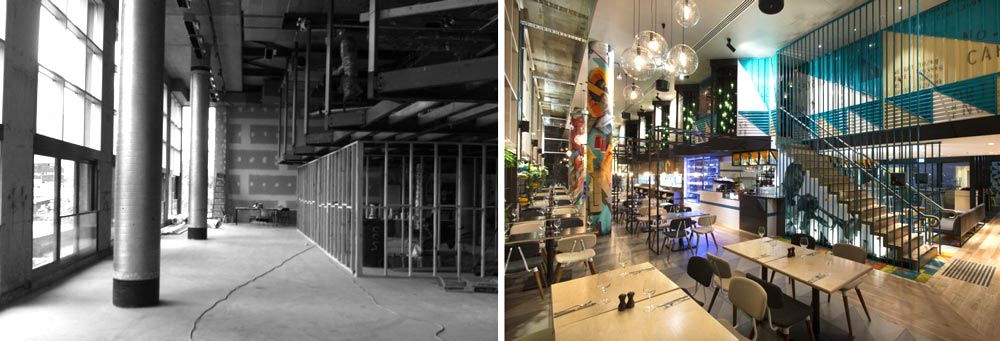 Aménagement d'un restaurant par un architecte d'intérieur spécialiste de l'architecture commerciale