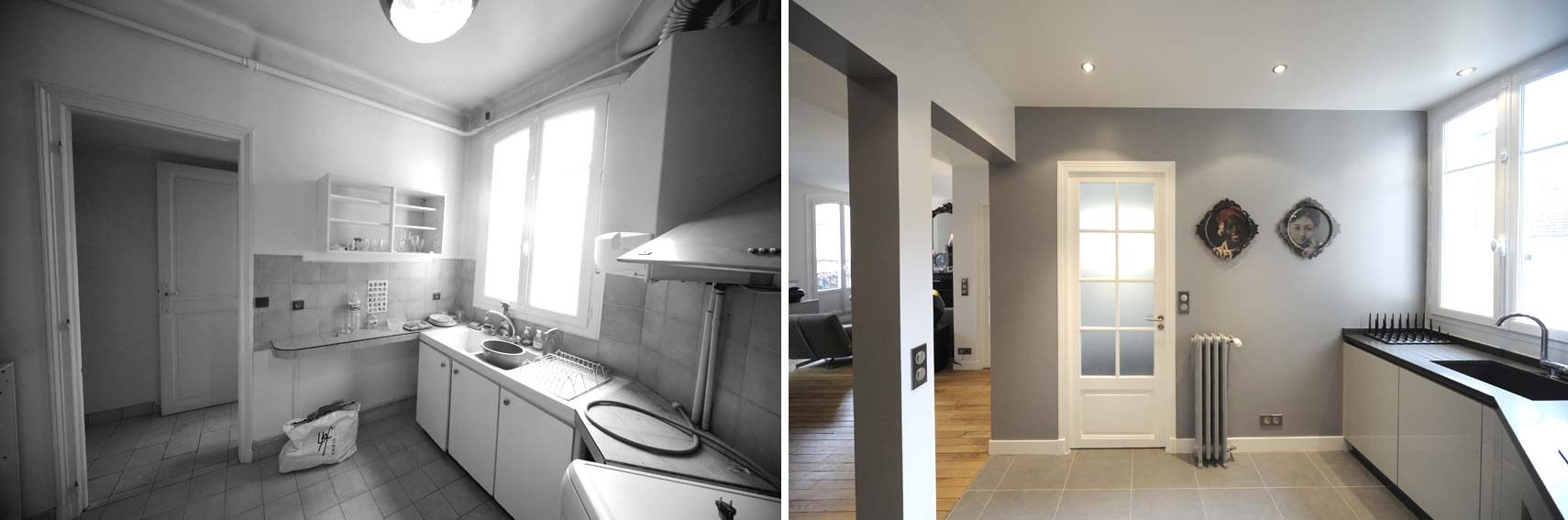 Avant apr s transformation d 39 un appartement de 65m2 du for Relooking interieur avant apres