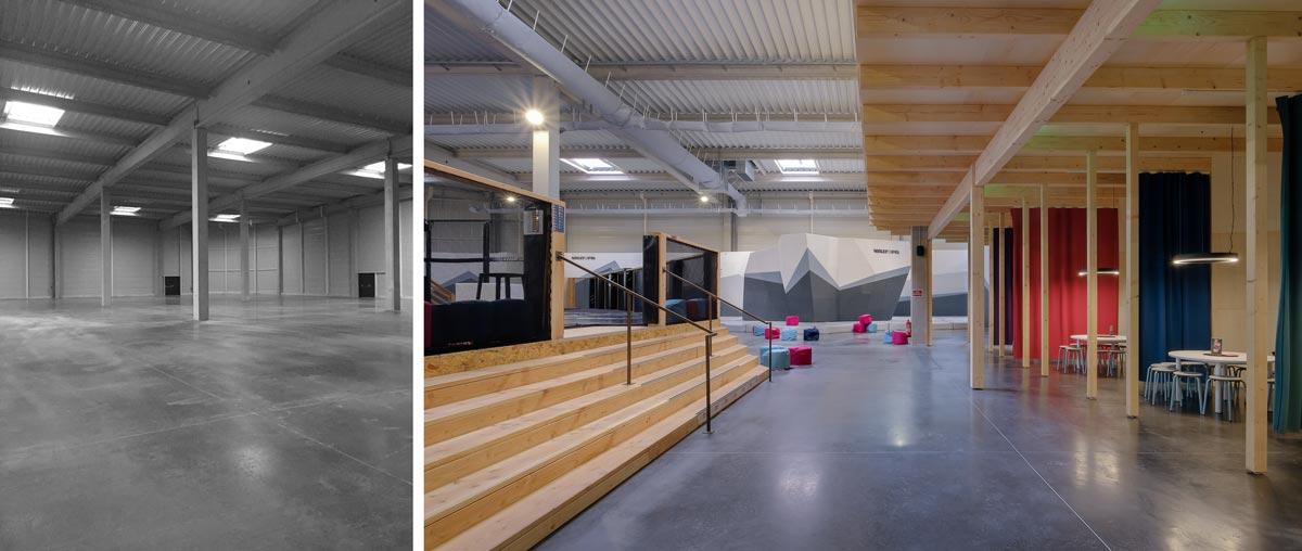 Un architecte spécialiste de l'architecture commerciale aménage un multiplex de loisirs