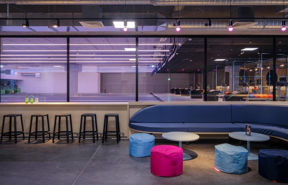 Bowling réalisé en collaboration avec un architecte d'intérieur