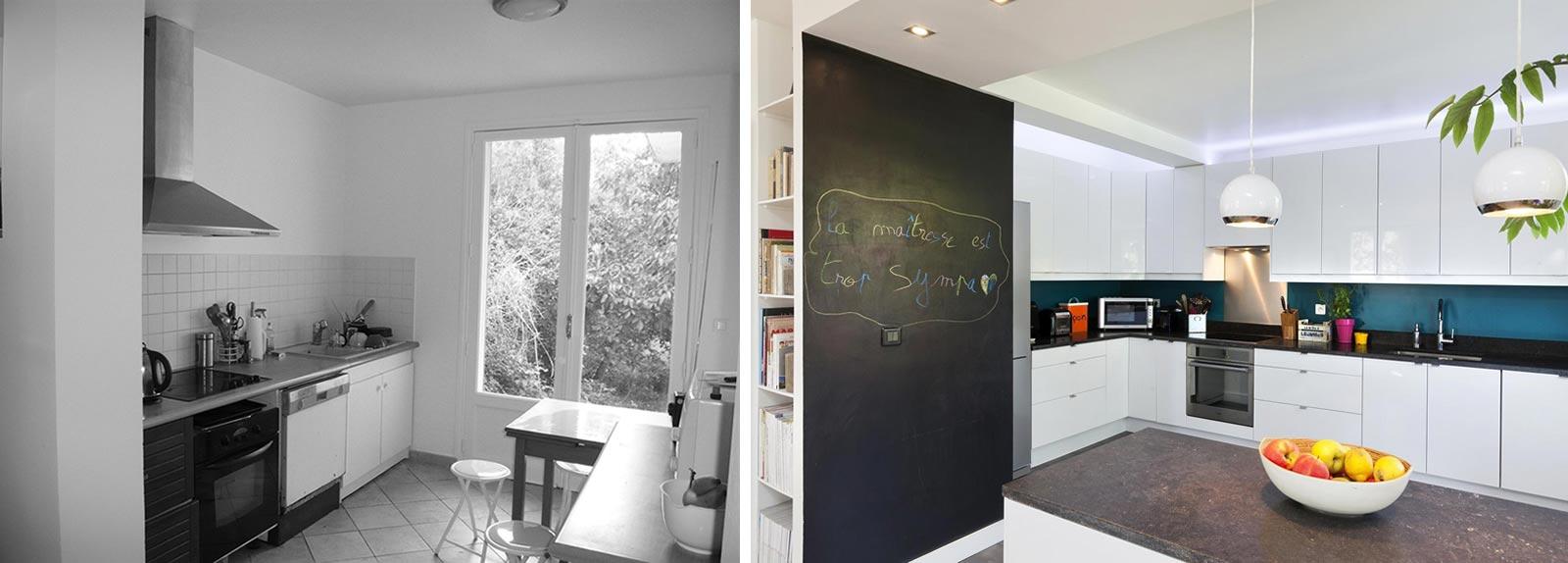 Amenagement d'une cuisine ouverte par un décorateur d'intérieur