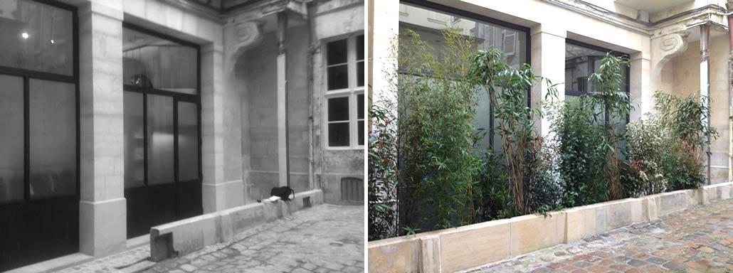Am nagement d 39 une cour paris for Tarif jardinier paysagiste