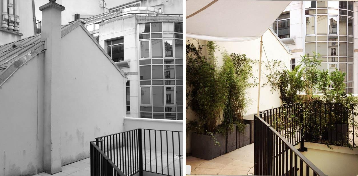 Aménagement d\'une terrasse en ville