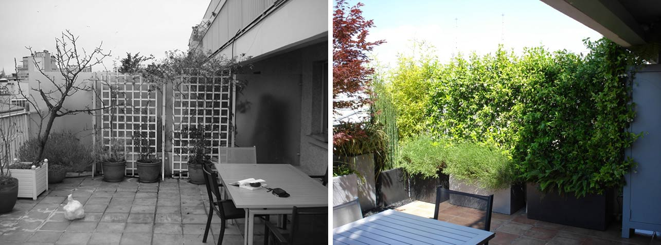 am nagement d 39 une terrasse plein ciel paris. Black Bedroom Furniture Sets. Home Design Ideas