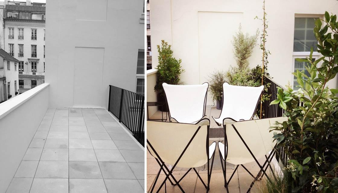 am nagement d 39 une terrasse en ville. Black Bedroom Furniture Sets. Home Design Ideas