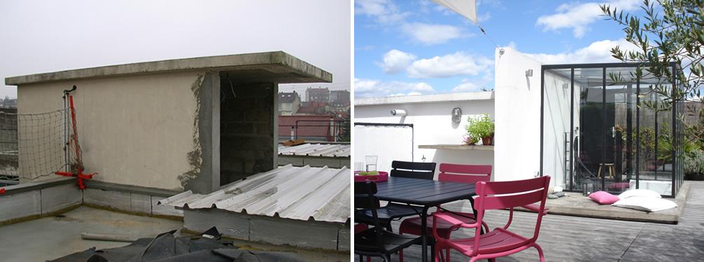 amnagement dune terrasse sur un toit