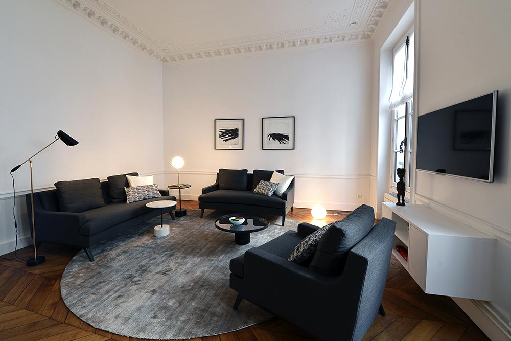 D coration d 39 int rieur appartement haussmannien 110m2 - Decoration interieur appartement 2 pieces ...
