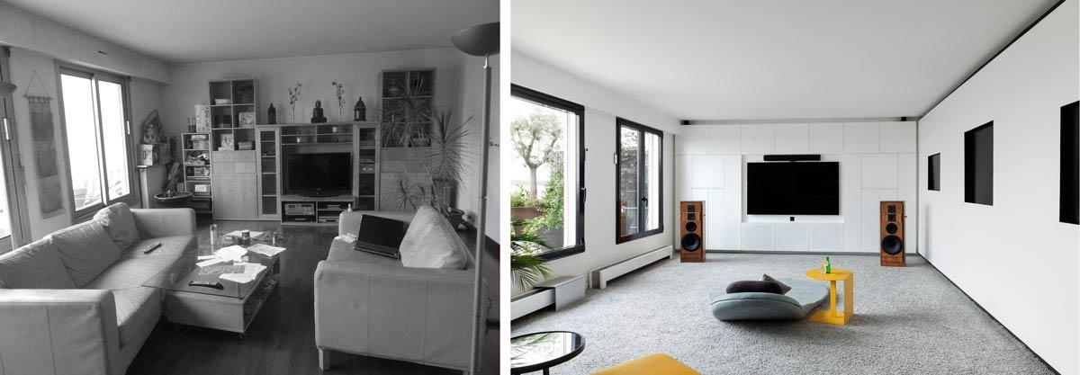 Avant Apres Architecture D Interieur D Un 4 Pieces De 100m2