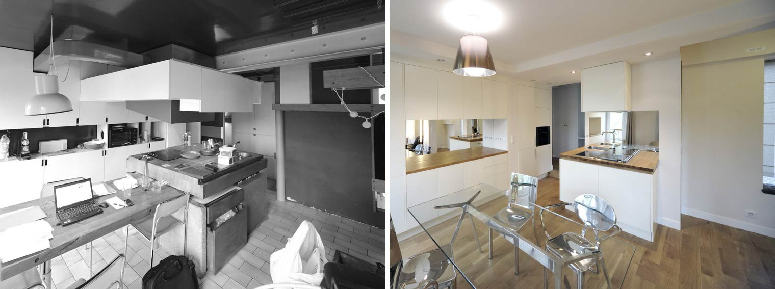Architecte Interieur Paris Petite Surface avant - après : rénovation d'un appartement atypique 3