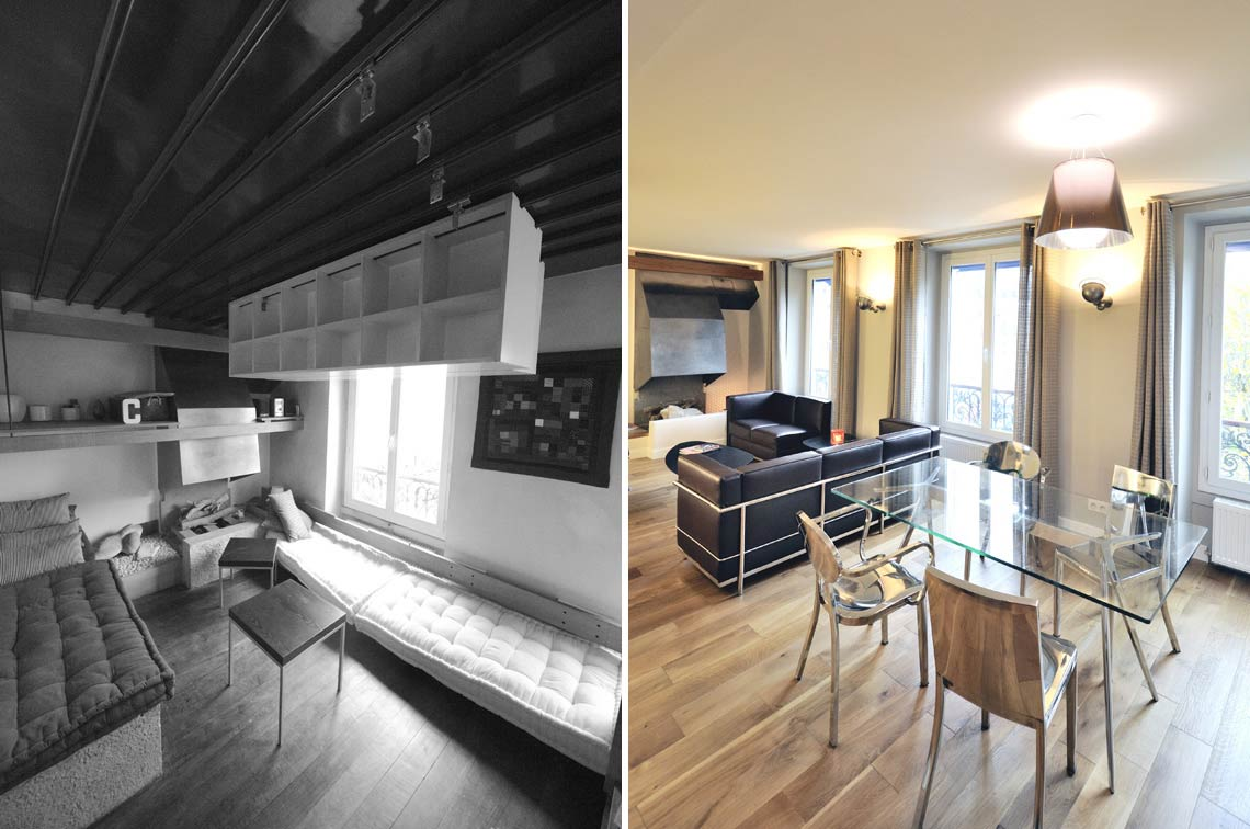 Avant apr s r novation d 39 un appartement atypique 3 - Renovation maison avant apres ...