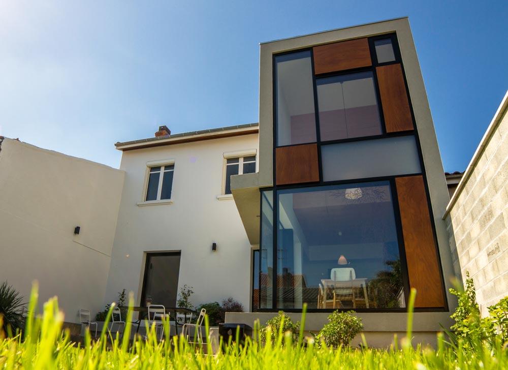 Vue d'une extension dans une maison de ville