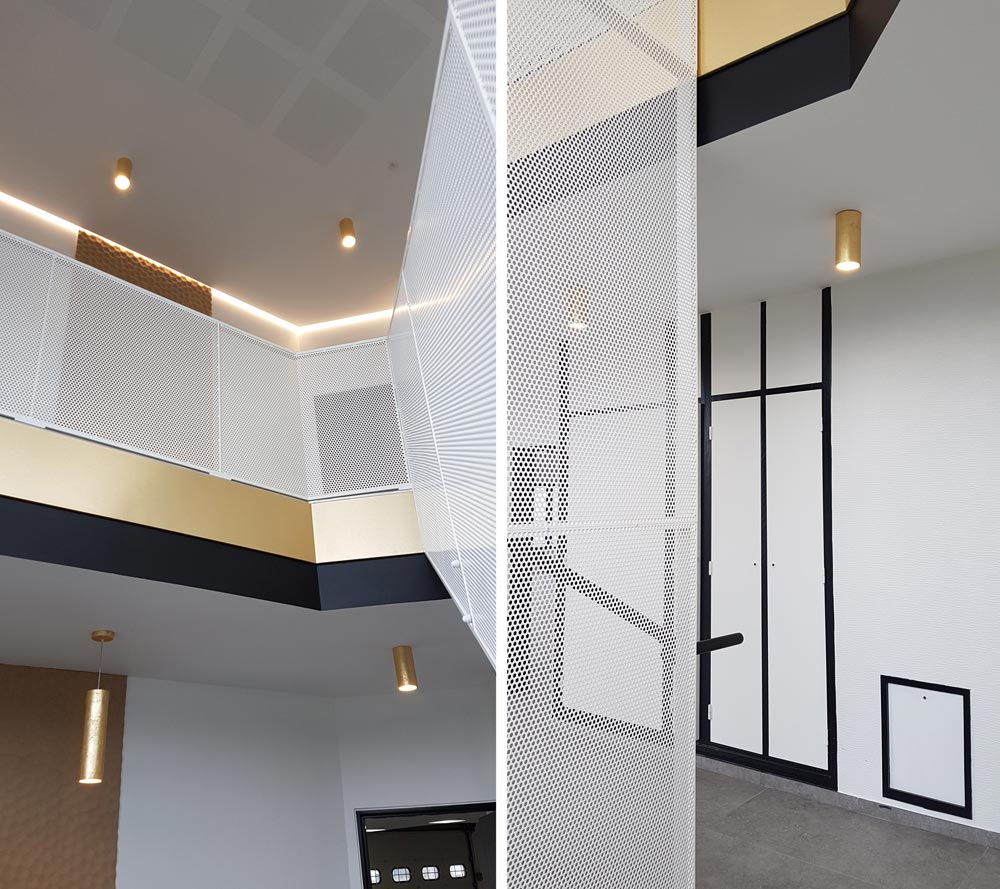 Locaux professionnels au design minimaliste aménagés par un architecte