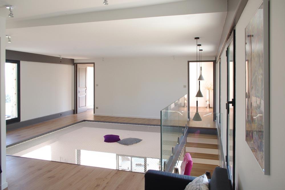 Maison d'architecte avec esprit loft