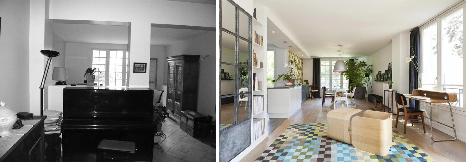 Relooking Maison Avant Apres relooking d'intérieur d'une maison individuelle de 5 pièces